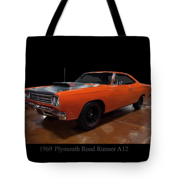 1969 Plymouth Road Runner A12 Tote Bag