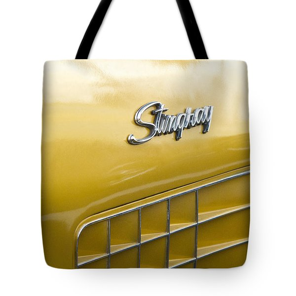 1972 Chevrolet Corvette Stingray Emblem Tote Bag by Jill Reger