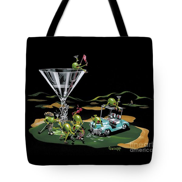 19th Hole Tote Bag by Michael Godard