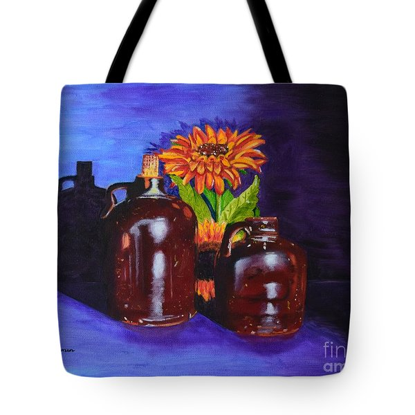 Tote Bag featuring the painting 2 Old Jugs by Melvin Turner