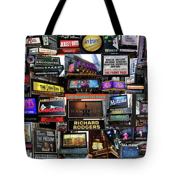 2016 Broadway Fall Collage Tote Bag