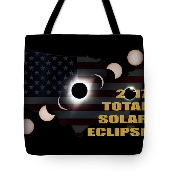 2017 Total Solar Eclipse Across America Tote Bag by David Gn