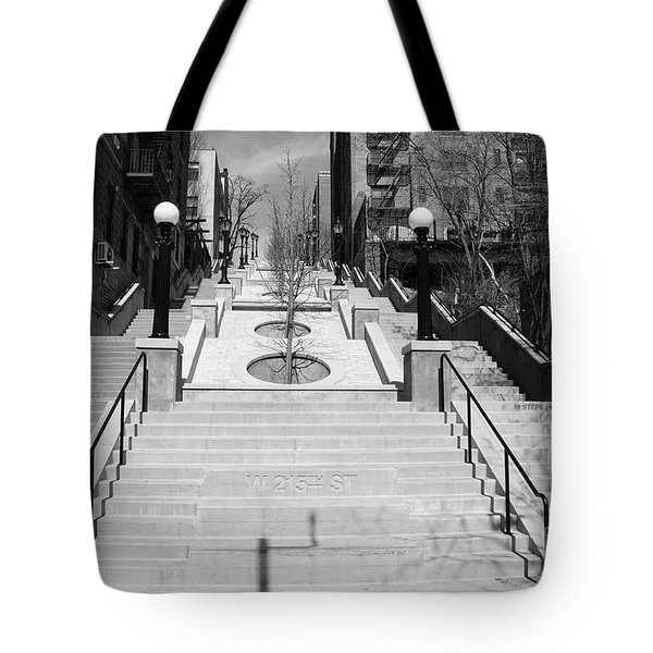 215th Street Stairs Tote Bag