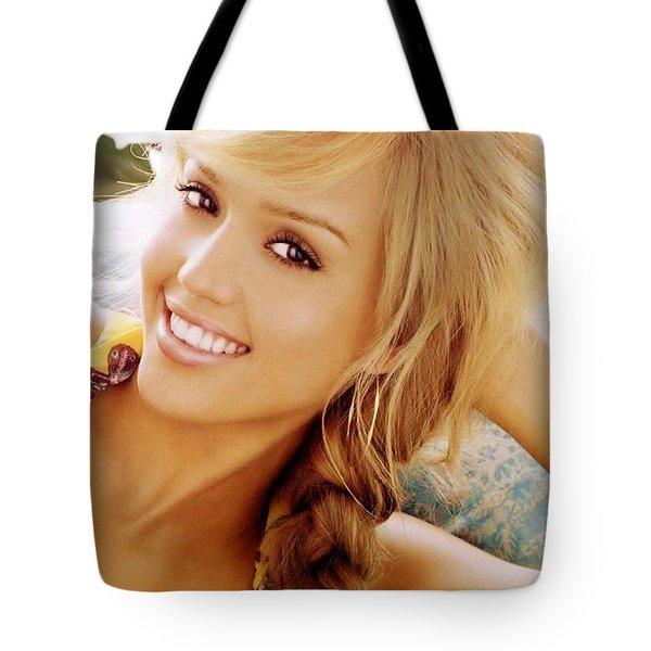 2918 Celebrity Jessica Alba  Tote Bag