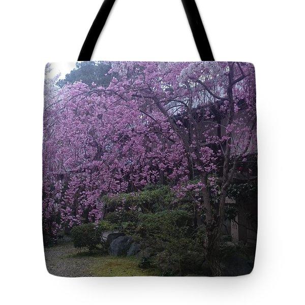 Shidarezakura Mean A Drooping Cherry Tree  Tote Bag