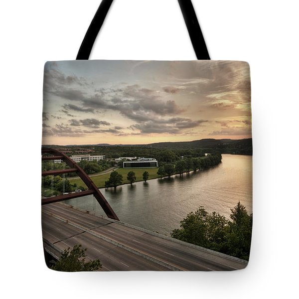 360 Bridge Sunset Tote Bag