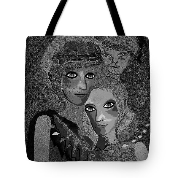 Tote Bag featuring the digital art 451 - To Lean On by Irmgard Schoendorf Welch