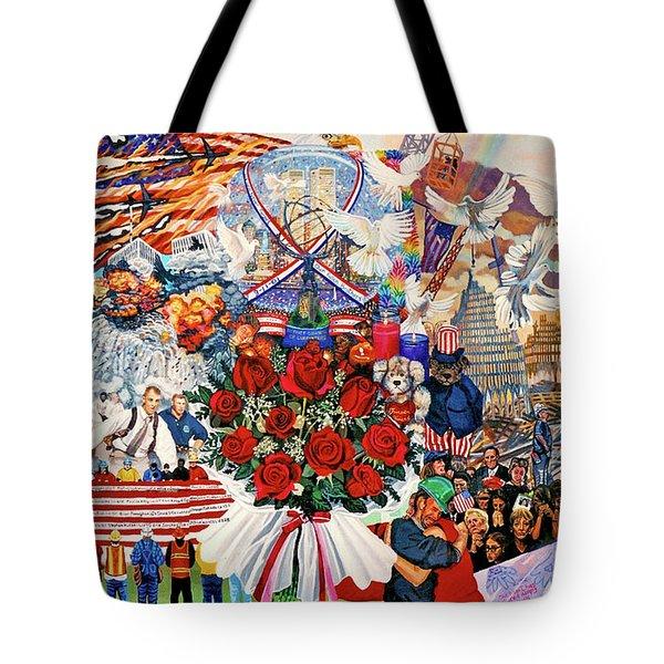 9/11 Memorial Tote Bag by Bonnie Siracusa