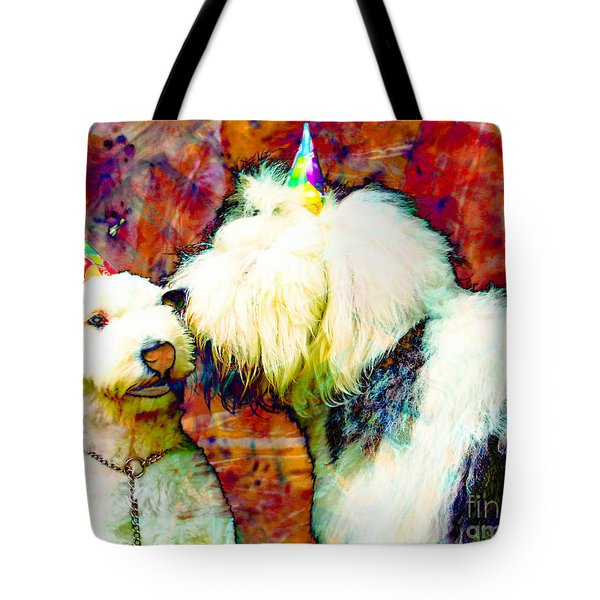 A Birthday Kiss Tote Bag by Alene Sirott-Cope