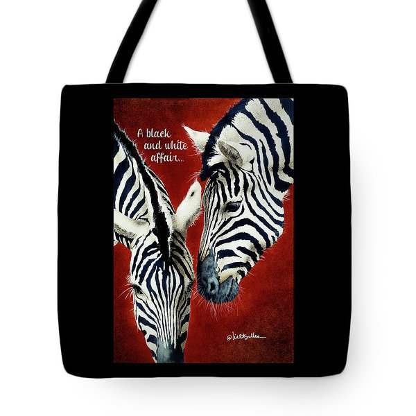 Tote Bag featuring the painting A Black And White Affair... by Will Bullas