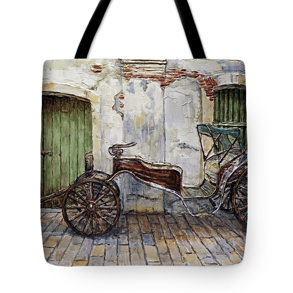 A Carriage On Crisologo Street 2 Tote Bag by Joey Agbayani