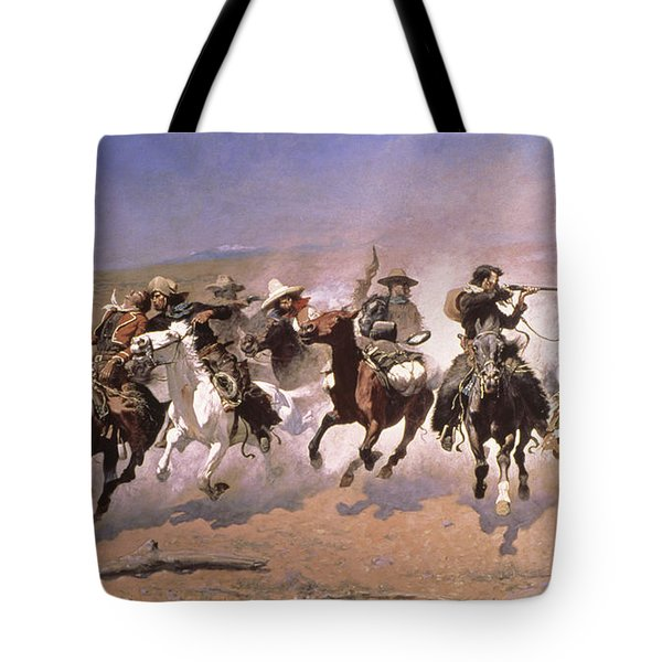 A Dash For The Timber Tote Bag by Frederic Remington