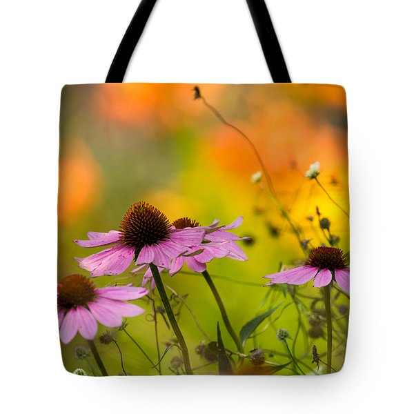 Tote Bag featuring the photograph Coneflower Symphony by Mary Amerman