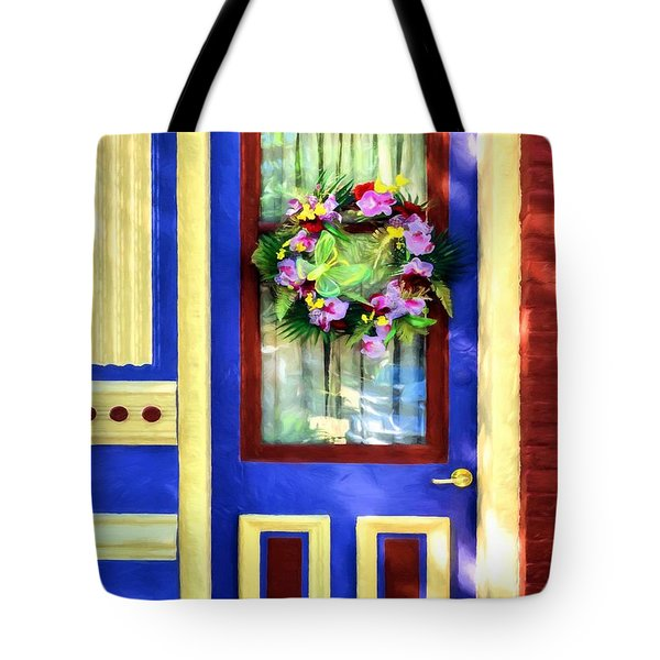 Tote Bag featuring the photograph A Door Of Many Colors # 2 by Mel Steinhauer