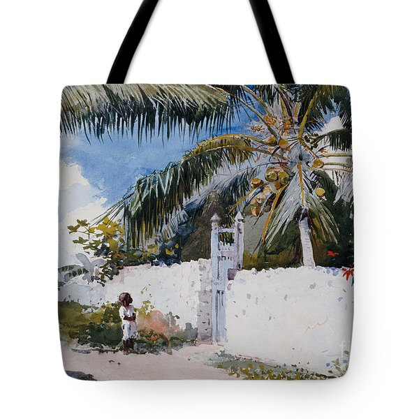 A Garden In Nassau Tote Bag by Winslow Homer