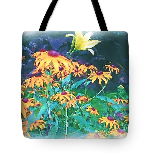 Tote Bag featuring the painting A Lily In The Field by Patricia Griffin Brett