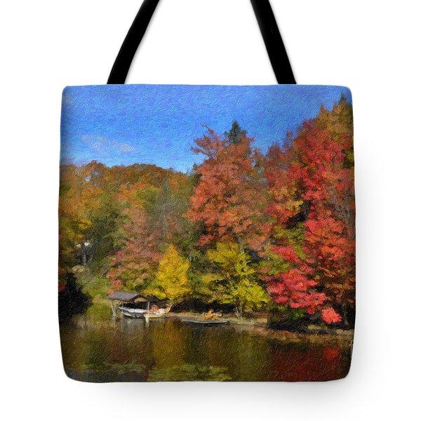 A Little Piece Of Adirondack Heaven Tote Bag