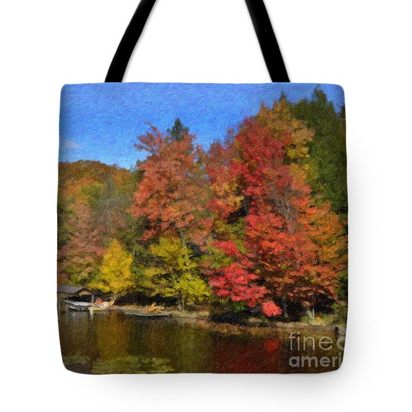 A Little Piece Of Adirondack Heaven Tote Bag by Diane E Berry