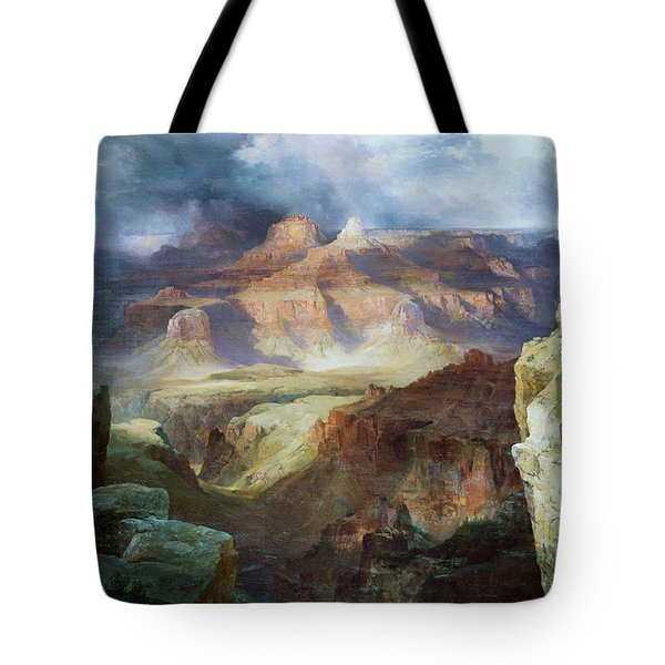 A Miracle Of Nature Tote Bag by Thomas Moran