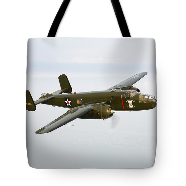A North American B-25 Mitchell Tote Bag by Scott Germain