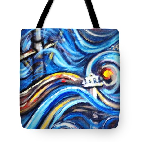 Tote Bag featuring the painting A Ray Of Hope 4 by Harsh Malik