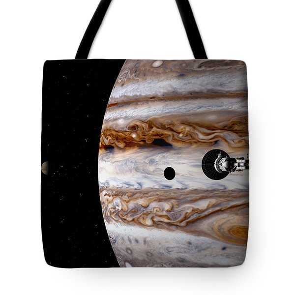 Tote Bag featuring the digital art A Sense Of Scale by David Robinson