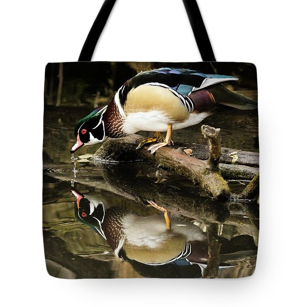 A Sip For You And Me Wildlife Art By Kaylyn Franks Tote Bag