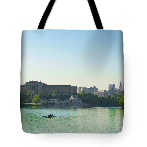Tote Bag featuring the photograph A Spring Morning In Philadelphia by Bill Cannon