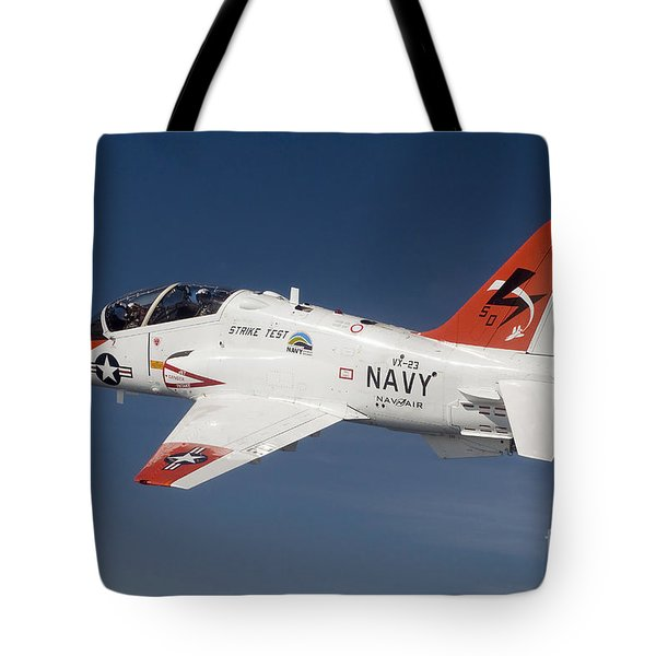 A T-45c Goshawk Training Aircraft Tote Bag by Stocktrek Images