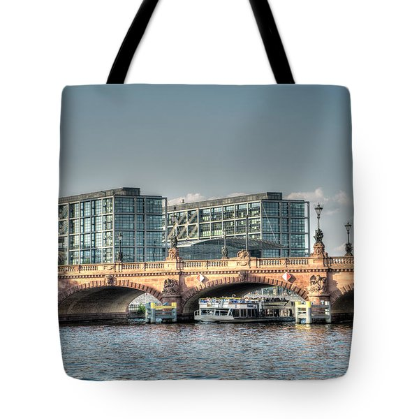 A View Under The Bridge Tote Bag by Uri Baruch