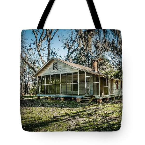 Abandoned House Old Cahawba Tote Bag by Phillip Burrow