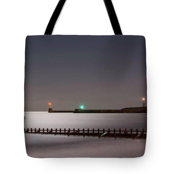 Aberdeen Beach At Night Tote Bag
