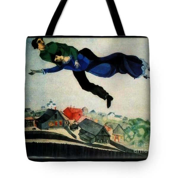 Above The Town Tote Bag