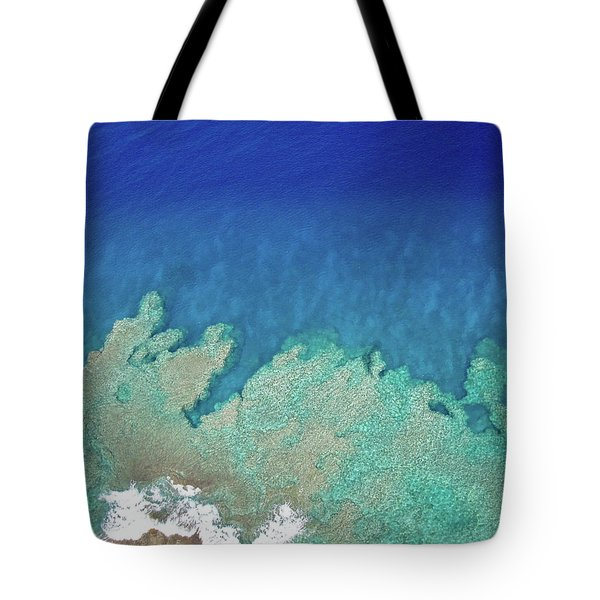 Abstract Aerial Reef Tote Bag
