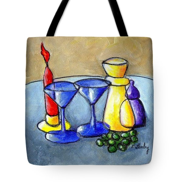 Grapes N Candles Tote Bag