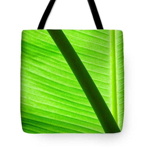 Abstract Banana Leaf Tote Bag