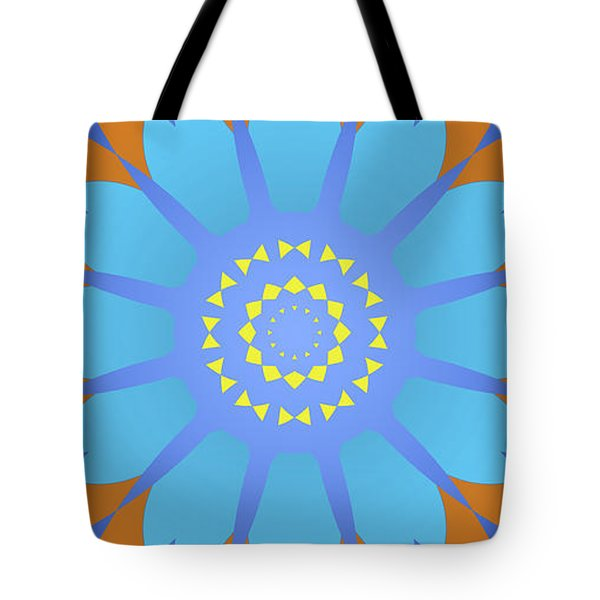 Abstract Blue, Orange And Yellow Star Tote Bag