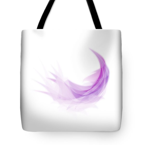 Tote Bag featuring the painting Abstract Feather by Setsiri Silapasuwanchai