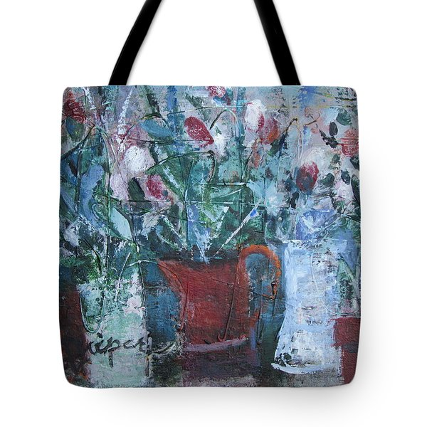 Abstract Flowers Tote Bag by Betty Pieper