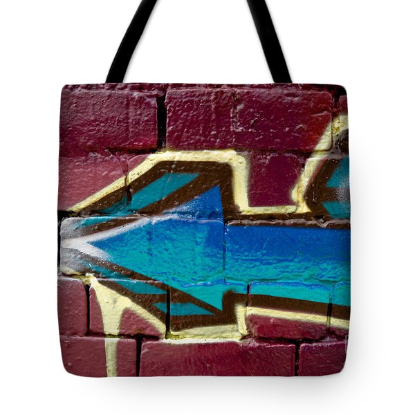 Tote Bag featuring the painting Abstract Graffiti Arrow by Yurix Sardinelly