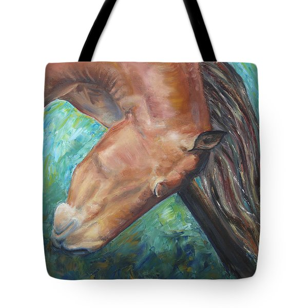 Abstract Horse One Tote Bag