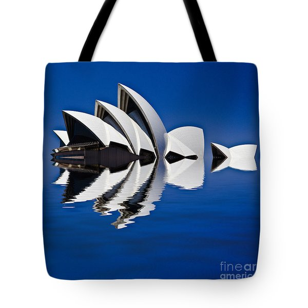 Abstract Of Sydney Opera House Tote Bag by Avalon Fine Art Photography