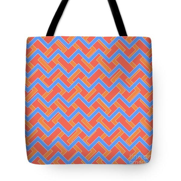 Abstract Orange, Red And Cyan Pattern For Home Decoration Tote Bag