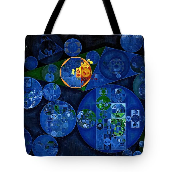 Tote Bag featuring the digital art Abstract Painting - Dark Midnight Blue by Vitaliy Gladkiy