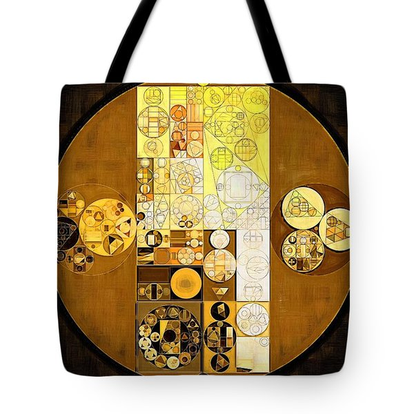 Abstract Painting - Golden Glow Tote Bag