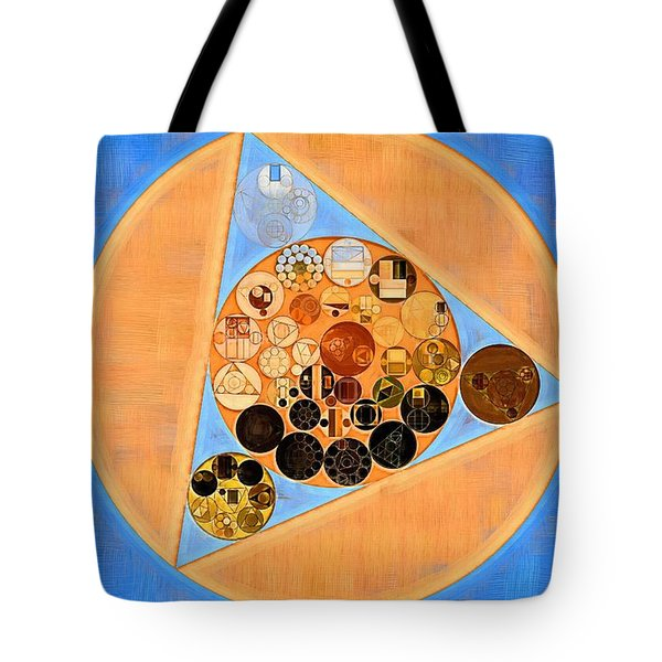 Tote Bag featuring the digital art Abstract Painting - Sandy Brown by Vitaliy Gladkiy
