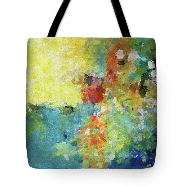 Tote Bag featuring the painting Abstract Seascape Painting by Ayse Deniz