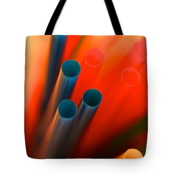 Abstract Straws Tote Bag by David Warrington