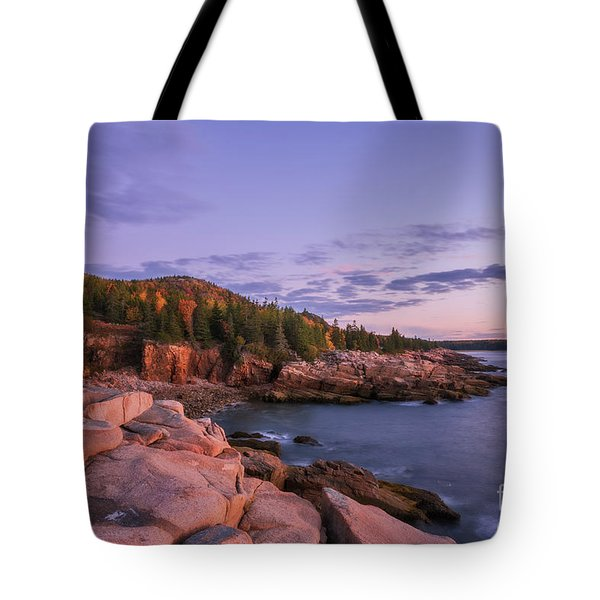 Tote Bag featuring the photograph Acadia Sunrise by Sharon Seaward