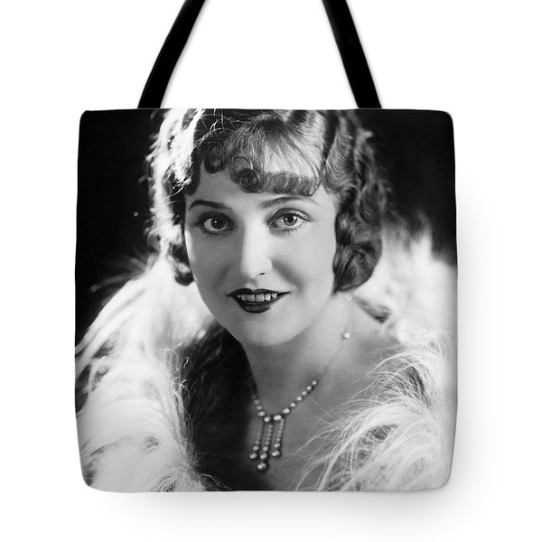 Actress Agnes Ayres Tote Bag by Underwood Archives